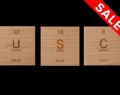 USC Coasters // Chemistry // Cherry Wood