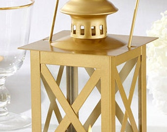 CLASSIC GOLD LANTERN Set of 4; Wedding Decorations; Bridal Shower Decorations; Party Decorations