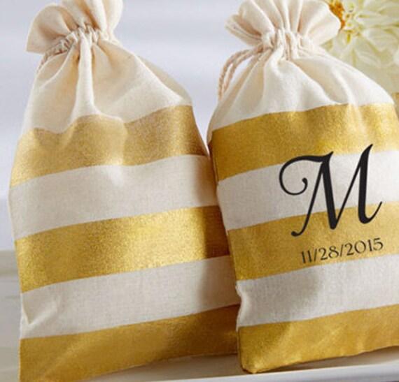Gold FAVOR BAG (Set of 36), Gold Wedding Favors, Wedding Favor Bags ...