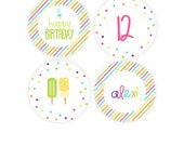 Popsicle Cupcake Toppers - Popsicle Birthday Party Kit - Girls Birthday Party - Summer Party Printables - Kids Summer Party Favors