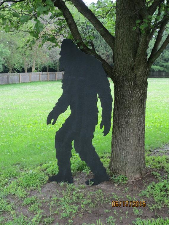 Bigfoot big foot shadow bigfoot wood silhouette by chardoman for Lawn art patterns