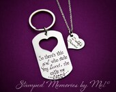 This Girl Stole My Heart, She Calls Me Daddy - Daddy's Princess - Hand Stamped Necklace and Key Chain Set - Father's Day - Gift for Dad