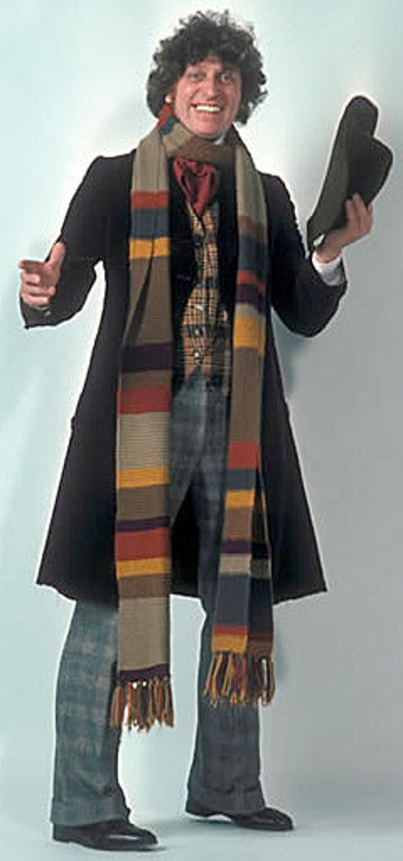 Doctor Who Season 13 Acrylic*Made 2 Order*Hand Knit Garter Stitch Replica Scarf Fourth Doctor Tom Baker from Ashlee's Knits Cosplay