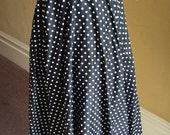 Polkadot Circle Skirt - Swing Dress - 1960s