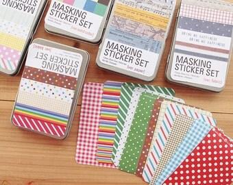 Masking Sticker Set(tin box ver) - Deco Sticker - Diary Sticker - Paper Sticker - Filofax - NMS002