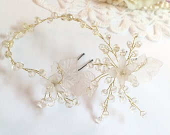 Wedding hair pins, Wedding headpiece, Wedding hair accessories, Gold hair pins, Gold headpiece, Bridal hair pins, Bridal hair accessories