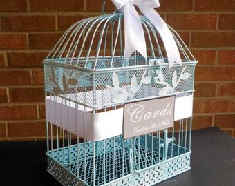 Wedding Money Holder, Bird Cage Wedding Card Box, Birdcage Card Holder, Shower Cards, Beach Wedding Card Holder, Custom Wedding Card Box