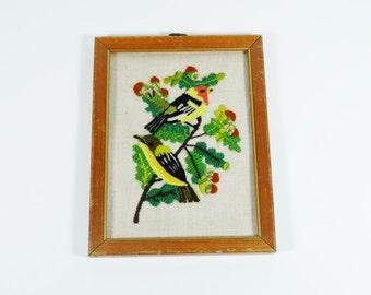Crewel Embroidery Song Birds