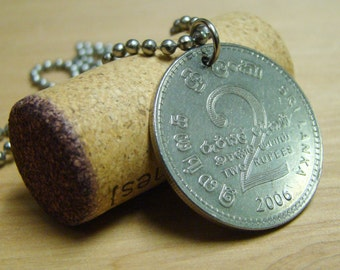 2006 Coin Pendant with Stainless Steel Ball Chain - Sri Lanka