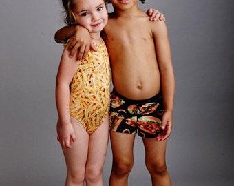 BURGER BOY: Boys swim shorts