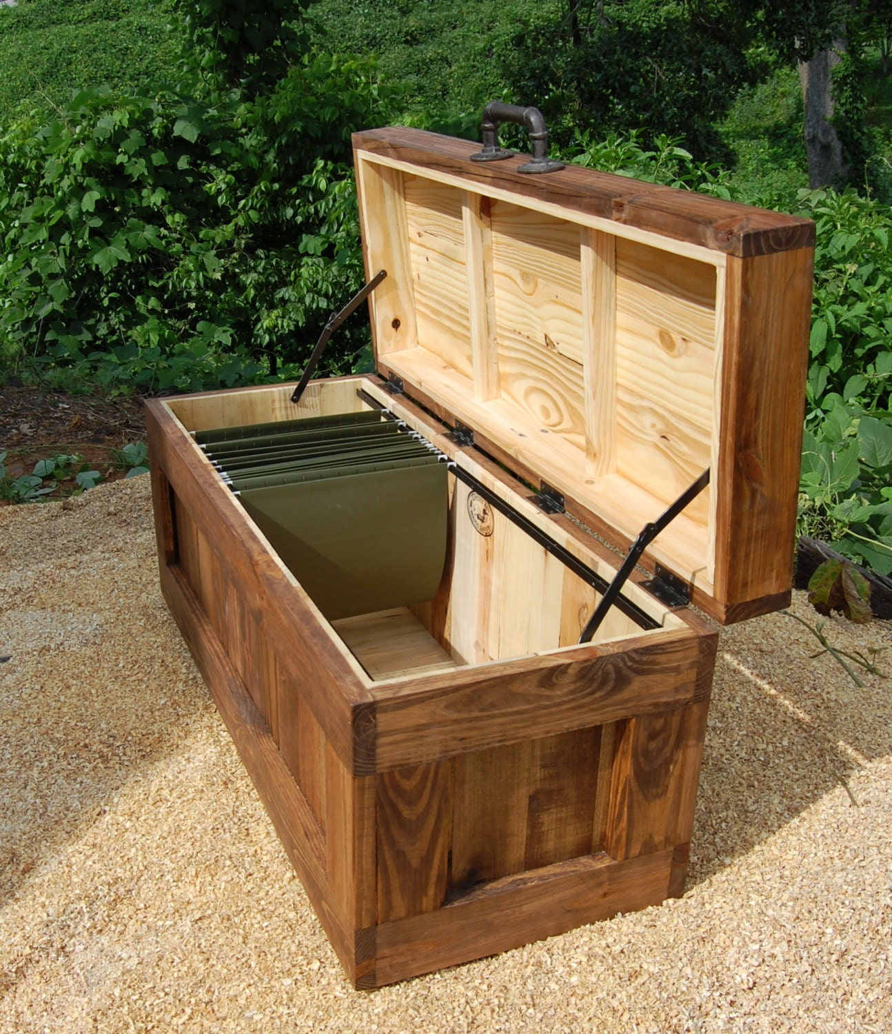 Build Your Own Coffee Table With Storage: File Cabinet Chest/ Large Hope Chest/ Coffee Table/ Bench/