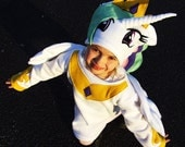 child's Princess Celestia costume 6-9 y old My Little Pony girl baby toddler