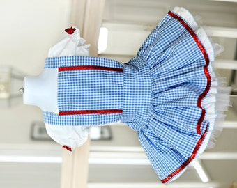 Dorothy 2pc set, Halloween Costume, Pageant, Birthday, Photography 6m-5T
