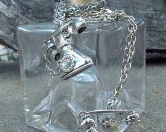 Silver Phone Necklace
