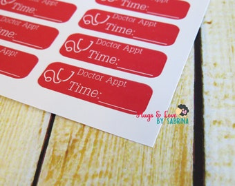 Doctor Appointment Planner Sticker - Size Customize-able