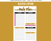 Daily Planning Printable - Gold Manhattan Edition