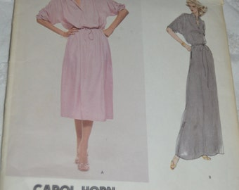 Vintage 70s Vogue 1880 Carol Horn Misses' Dress Sewing Pattern  - UNCUT Size 10