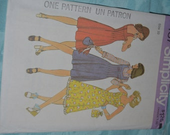 Vintage 70s Simplicity 7437 Misses Dress or JUmper and Bag Sewing Pattern - Size 10 or Size 12