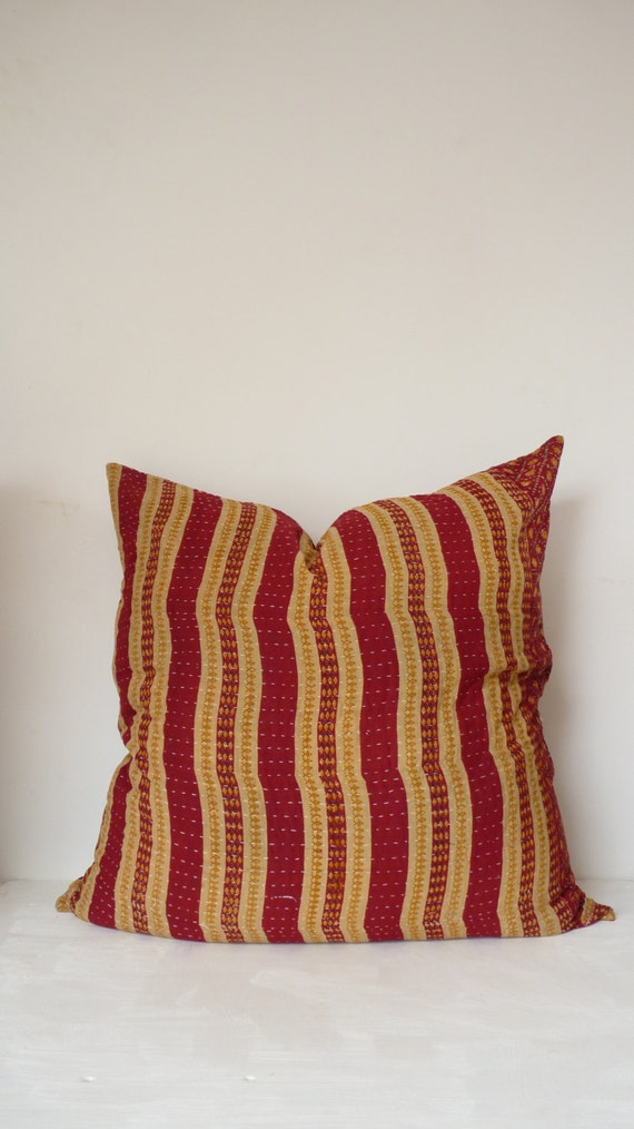 Hippie Floor Pillows : euro sham // 26 x 26 // boho floor pillow // kantha pillow