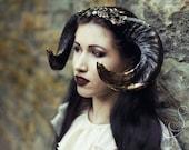 Black Ram Horn Headdress