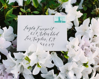 Calligraphy Addressed Envelopes   Invitation   Wedding   Modern Calligraphy