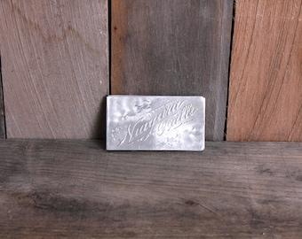 Vintage Souvenir Niagara Falls New York Aluminum Business Calling Card Holder