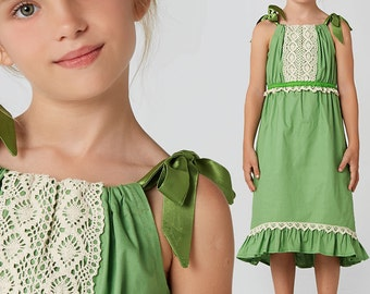 Girls dress Pattern, Childrens sewing pattern PDF,  Easy sewing pattern, pillowcase dress pattern, girls clothing pattern for kids, RILEY