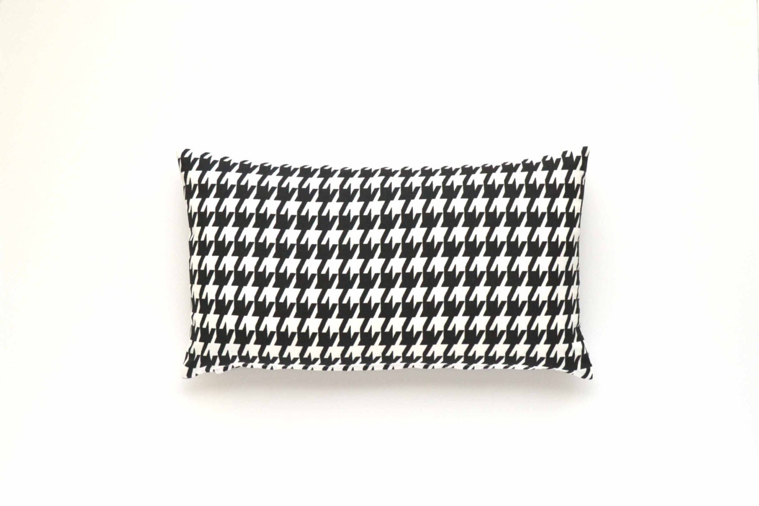 Black And White Houndstooth Throw Pillows : Decorative Houndstooth Lumbar Pillow Cover - Black and White - 12 x 20