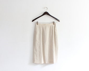 Minimal Linen Pencil Skirt