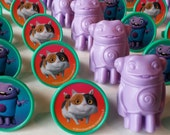 24 Dreamworks Movie HOME cupcake topper rings, Oh and Pig, Boove birthday bash party cake party favor cat ADORABLE! Tip Feelin' Boovie!