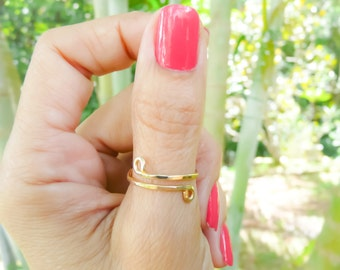 Gold Filled Ring Thumb Ring Adjustable Ring Jewelry For Her Summer Fun