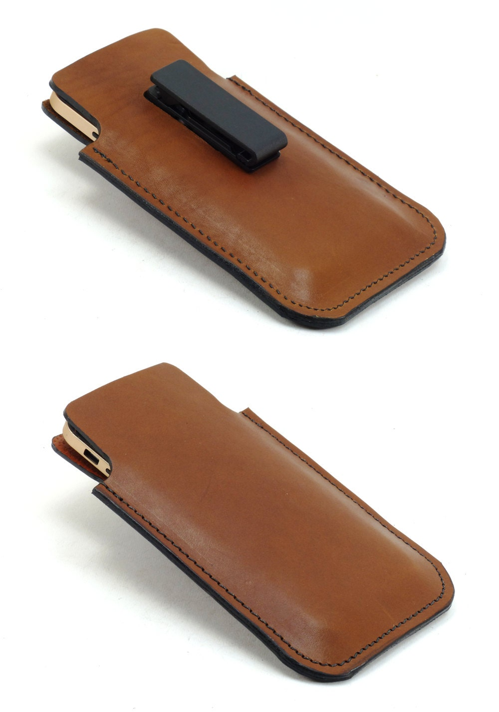 harness leather iphone 6 plus holster with rotating belt clip