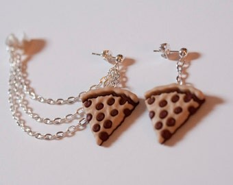 Pizza Ear Cuff and Earring