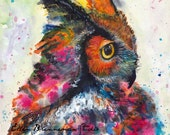 Owl Spirit Animal Totem fine art print by Ellen Brenneman