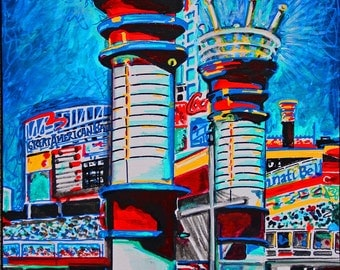 Great American Ballpark Pop Art Print