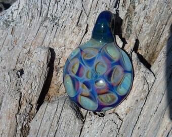Boro Honeycomb Pendant Necklace