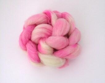 Wool Roving, Hand Dyed Spinning Fiber, 100% Cheviot Wool, 100 grams