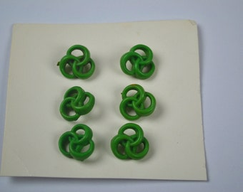 1950s/60s Vintage Buttons in Green Plastic