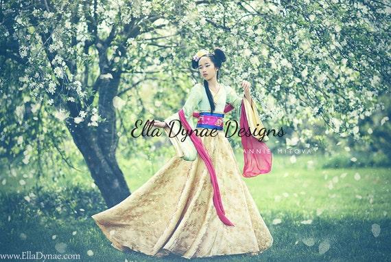 LIMITED EDITION Mulan Costume Disney-Inspired Hanfu Style