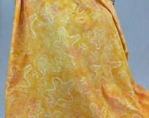Made in Indonesian--Indonesian Batik Fabric--Starfish on Peachy Yellow--Indonesian Fabric by the HALF YARD