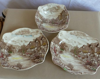 Johnson Brothers Serving Bowl and Platters Vintage
