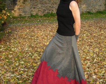 Night Shadow Long skirt - Made to order - Choose your colors and size