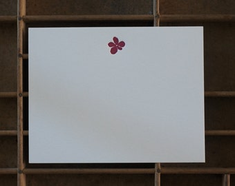Letterpress Orchid Note Cards - Set of 6