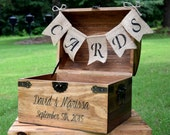 Wedding Card Box - Rustic Wooden Card Box - Rustic Wedding Card Box - Rustic Weddings - Advice Box - Wishing Well - Card Box - Wedding Gift