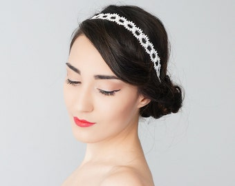 30% Inspiration Bridal Headband Bridal Headpiece Lace Headband Retro Headband Wedding Bridal Accessories Lace Headpiece / MAIDA