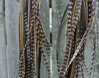Wild Child Extra Long Grizzly Feather Festival Earrings