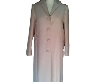 1950 vintage coat wool cream beige off white S