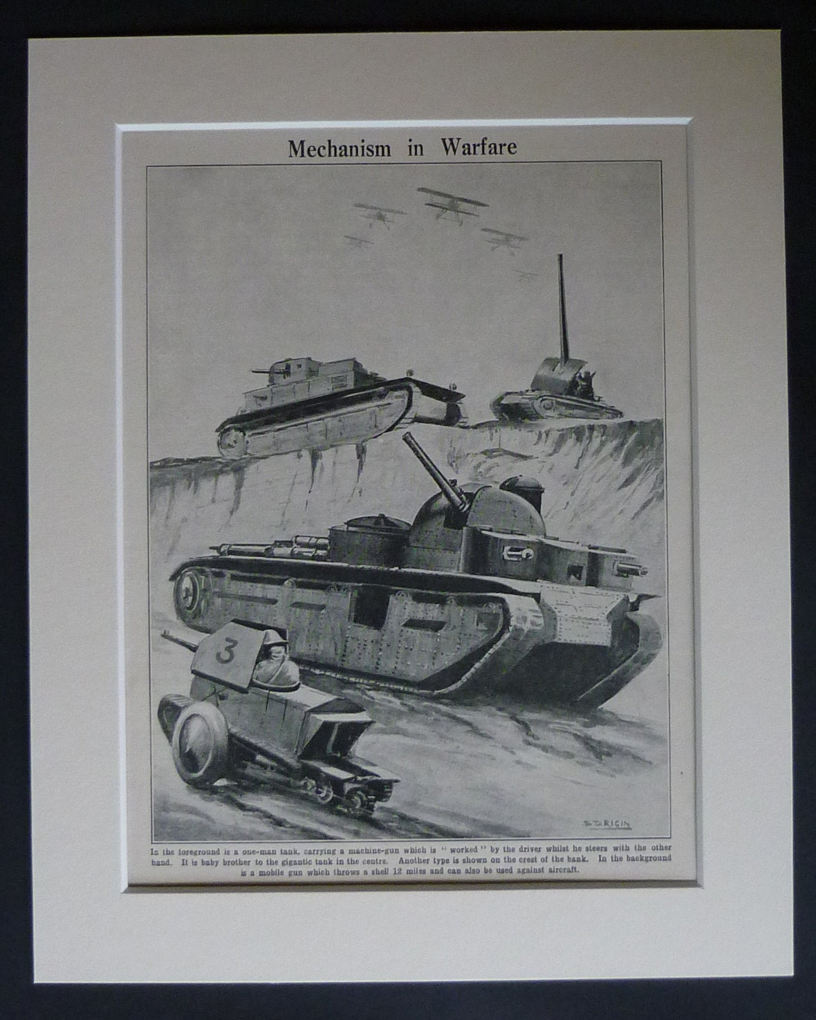 Usaf Wall Decor : Antique tank print military wall art war decor