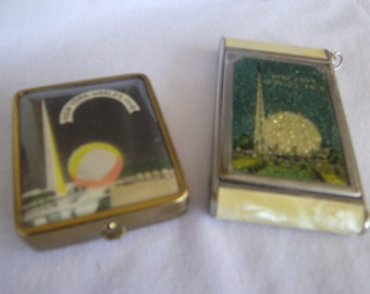 1939 New York world fair compacts set of two