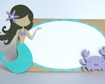 Mermaid Place Cards / Food Tents - MADE TO ORDER